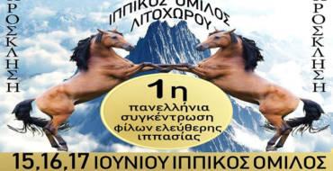 1η ΠΑΝΕΛΛΗΝΙΑ ΣΥΓΚΕΝΤΡΩΣΗ ΦΙΛΩΝ ΕΛΕΥΘΕΡΗΣ ΙΠΠΑΣΙΑΣ ΣΤΟ ΛΙΤΟΧΩΡΟ
