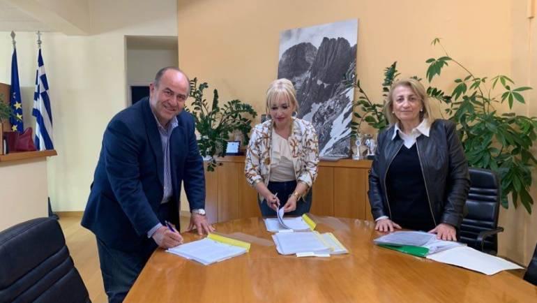 Υπογραφή συμβάσεων έργου από το Δήμο Δίου – Ολύμπου  και την Πιερική Αναπτυξιακή