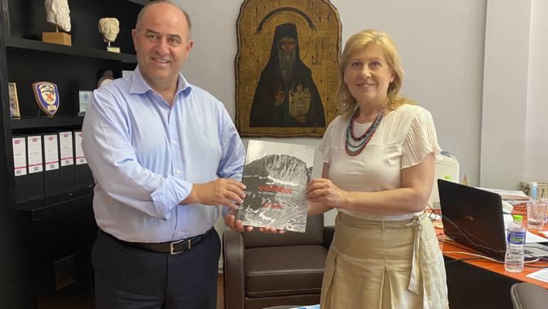 Συνάντηση Περιφερειακής Συμπαραστάτη Κεντρικής Μακεδονίας Νιόβης Παυλίδου με τον Δήμαρχο Δίου-Ολύμπου Βαγγέλη Γερολιόλιο