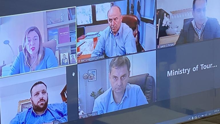 Η ενίσχυση της τουριστικής προβολής του Δήμου επί τάπητος στην τηλεδιάσκεψη του Δημάρχου με τον Υπουργό Τουρισμού