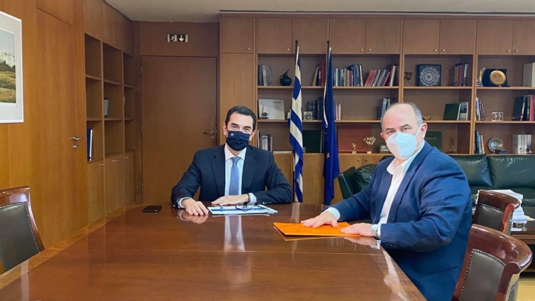 Συνάντηση Δημάρχου Δίου-Ολύμπου Β. Γερολιόλιου με την ηγεσία του Υπουργείου Περιβάλλοντος και Ενέργειας