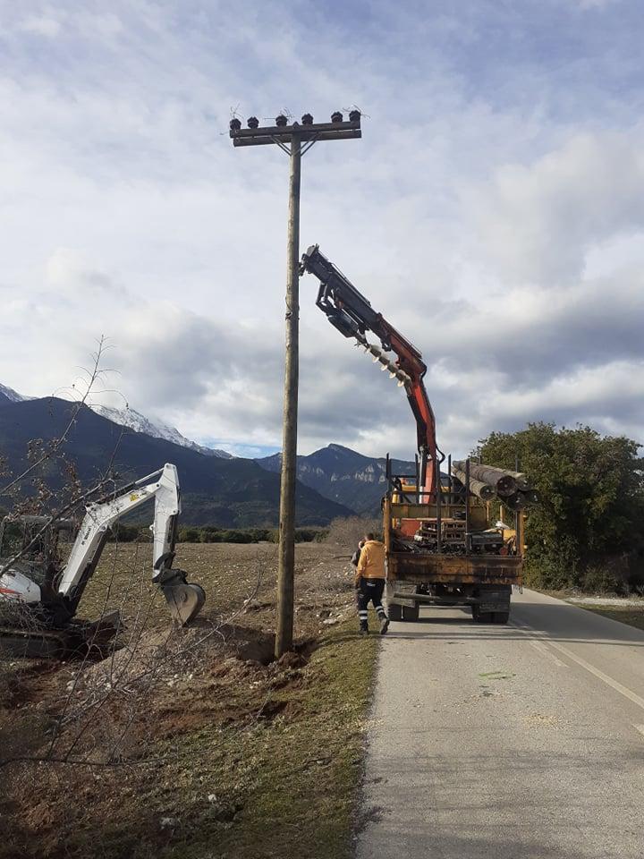 Δ.Ε. Δίου: Επέκταση του Δικτύου ΦΟΠ στο δρόμο από τη Βροντού προς το ρέμα Αγίας Τριάδος