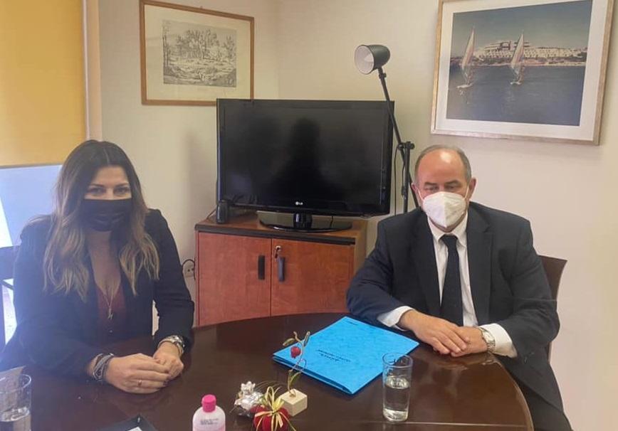 Συνάντηση του Δημάρχου Βαγγέλη Γερολιόλιου με την Υφυπουργό Τουρισμού Σοφία Ζαχαράκη