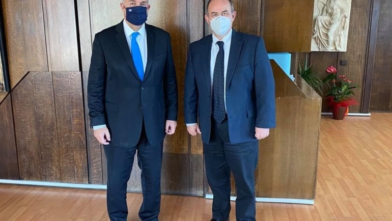 Με τον Υπουργό Εσωτερικών Μάκη Βορίδη συναντήθηκε ο Δήμαρχος Βαγγέλης Γερολιόλιος