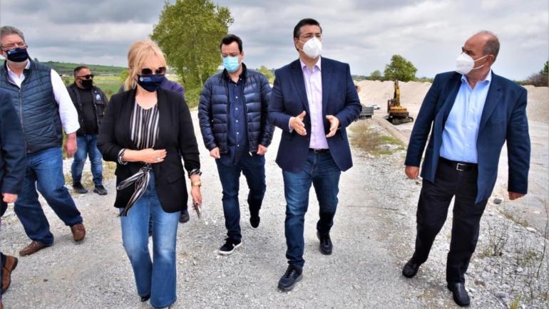 Αυτοψία στα έργα της Περιφέρειας στο Δήμο Δίου-Ολύμπου έκανε ο Περιφερειάρχης Κεντρικής Μακεδονίας Απόστολος Τζιτζικώστας
