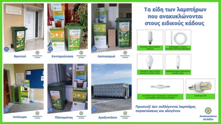 Ανακύκλωση ηλεκτρικών συσκευών στον Δήμο Δίου-Ολύμπου