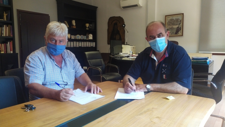 Υπογράφηκε η σύμβαση για την κατασκευή ταμιευτήρα άρδευσης στη θέση «Ξηροκάμπι» Βροντούς προϋπολογισμού 620.000€