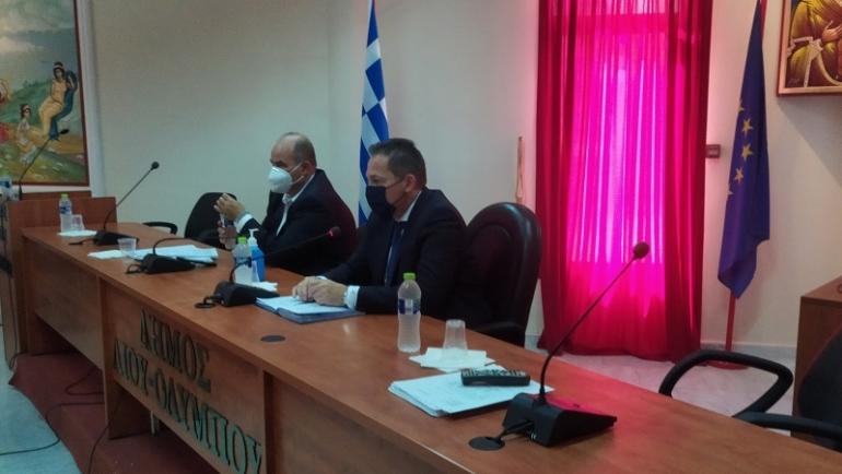 Συνάντηση του αν. υπουργού Εσωτερικών Στέλιου Πέτσα στο Δημαρχείο Κονταριώτισσας με φορείς της Πιερίας και επίκεντρο την στήριξη της Εθνικής Εμβολιαστικής Εκστρατείας
