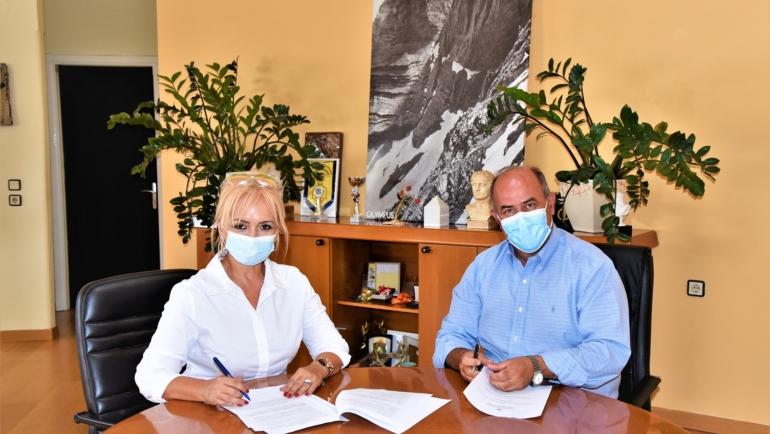 Υπογράφηκε η Προγραμματική Σύμβαση μεταξύ της Π.Ε. Πιερίας και του Δήμου Δίου-Ολύμπου για το έργο «Συντήρηση – ασφαλτόστρωση δημοτικών οδών του Λιτοχώρου»